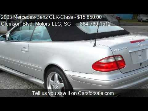 2003 Mercedes-Benz CLK-Class CLK430 Cabriolet - for sale in
