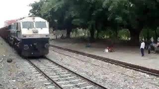 Maal Gaadi with WDG4 Crossing Lohit Express :)