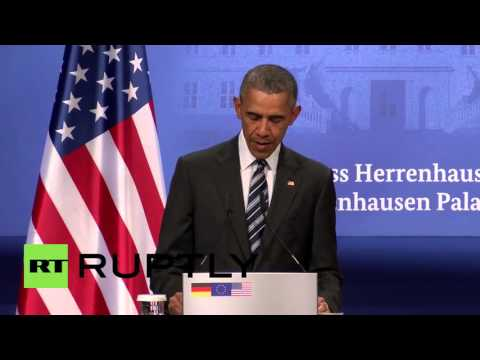 Germany: Obama says Russia has 'aggressive posture' during Hannover visit