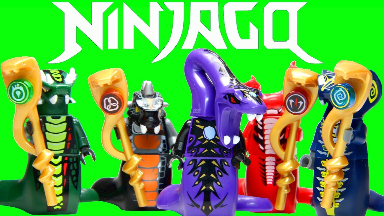 LEGO Ninjago Snake Generals Serpentine Collection - YouTube 4 Snake Tribes Of Ninjago