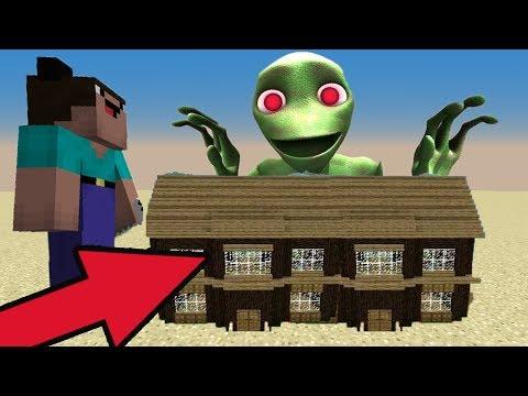 МОД НА НУБА с оружием ПРОТИВ ЗЕЛЕНЫХ ЧЕЛОВЕЧКОВ  - Троллинг в Minecraft Серия 21