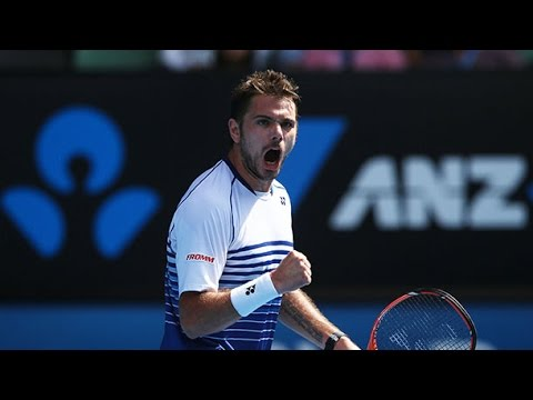 Stan Wawrinka v Kei Nishikori match point (QF) - Australian Open 2015