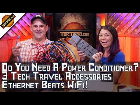 TekThing 29: Ethernet Beats WiFi, Tech Travel Gear, Password Lock Folders, Power Conditioners!