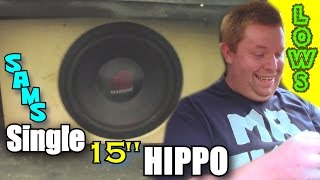 25hz Sleeper Flex w/ Massive Audio HIPPO Subwoofer & Sams LOW Hitting Ported Box | TA3000.1 Bass Amp