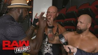 "Gallows & Anderson have a ""Too Sweet"" encounter with Legend Stevie Ray: Raw Fallout, July 10, 2017"