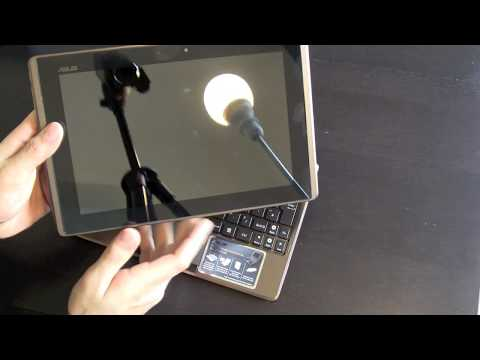 Asus Eee Pad Transformer TF101 Unboxing hands on , Cover, dock, keyboard, comparison Hp Touchpad
