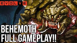 I AM BEHEMOTH!! Evolve Gameplay Walkthrough - Multiplayer (Behemoth Gameplay PC 1080p)
