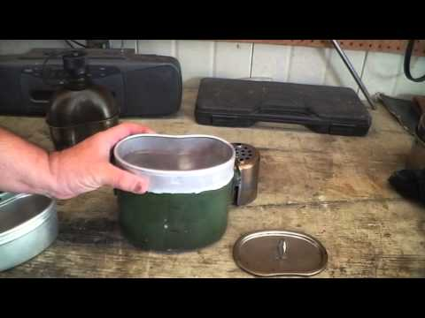 Mess Kit review & field use. East German Army/Canteen Shop cup & stove