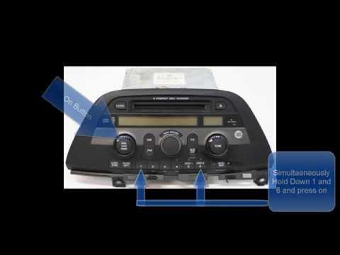 Honda Odyssey Radio Code Reset/Unlock- No Call to Dealer