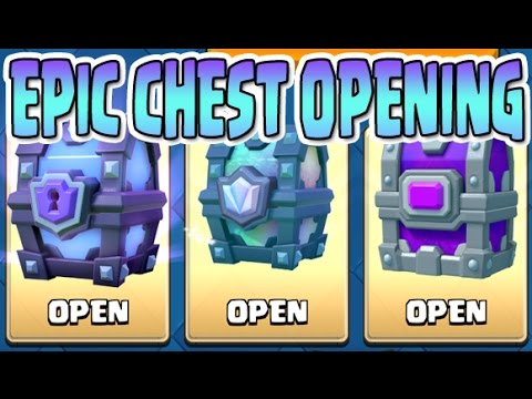 Clash Royale Epic Chest Opening Legendary Epic Super Magical Chests
