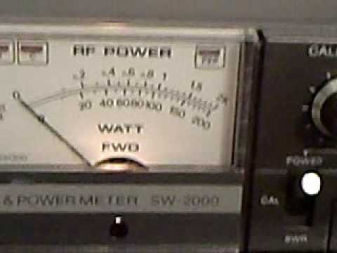 Kenwood SW-2000 HF & 6 Ham Radio Swr/Wattmeter Demonstrated