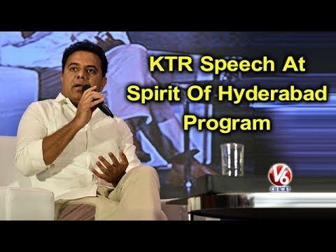 IT Minister KTR Speech At Spirit Of Hyderabad Program | V6 News