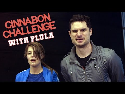 THE CINNABON CHALLENGE WITH FLULA // Grace Helbig