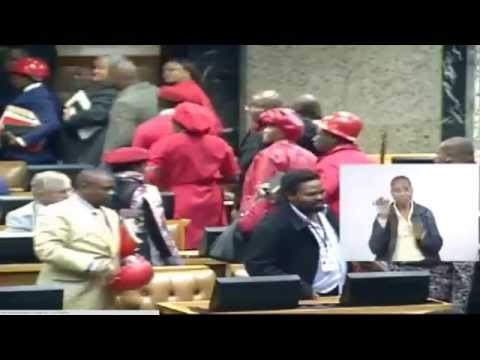 Watch Julius Malema being kicked out of Parliament