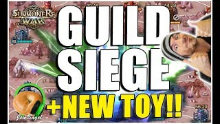 SUMMONERS WAR : Guild Siege First Battle, ToA, Arena, New Nat 5 Toy!!!