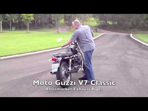 Moto Guzzi V7 Sound - before and after