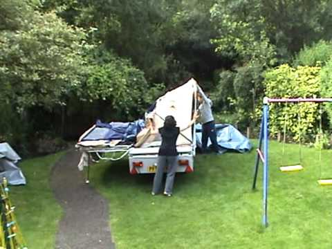 Putting Up The Trigano Oceane Trailer 315gl Tent Youtube