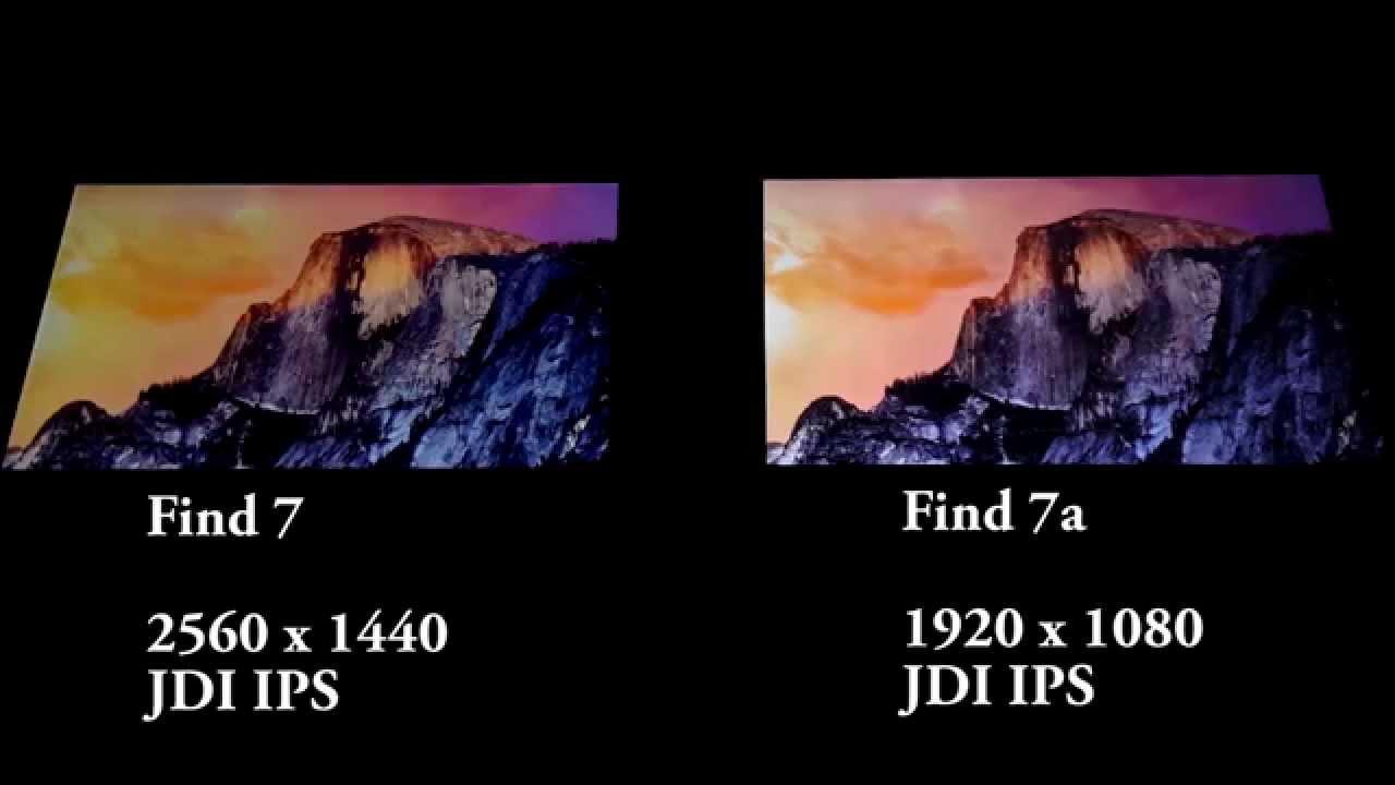 [Comparison] Oppo Find 7 vs Find 7a Display comparison