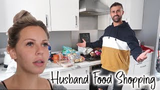 HUSBAND DOES THE FOOD SHOP! | LIDL FOOD SHOP | Lucy Jessica Carter