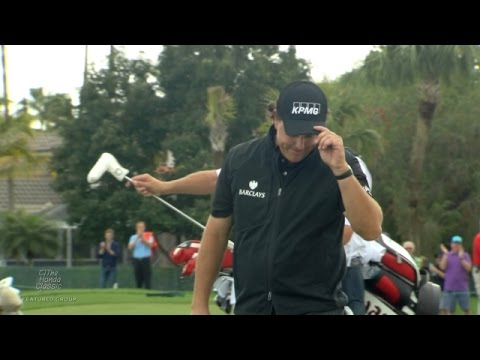 Phil Mickelson's fabulous birdie chip-in on No. 14 at Honda