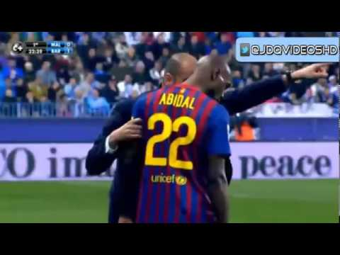 Lionel Messi First Goal ' Barcelona Vs Malaga ' 22/1/2012