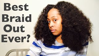 Transforming Frizzy Braids into BEST BRAID OUT EVER!?