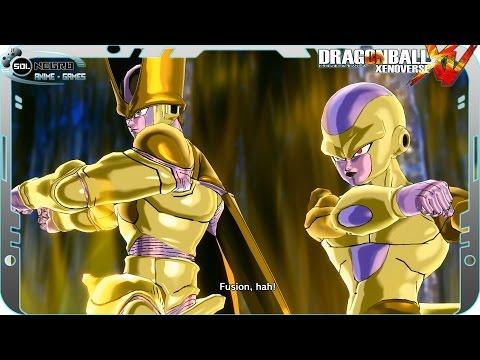 Golden Frieza and Golden Cell Fusion: Golden Friezell VS Vegito SSB x10 Kaioken DB Xenoverse mod