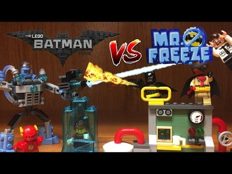 Lego Batman Movie MR FREEZE vs BATMAN Ice Attack Set Review with REAL ICE