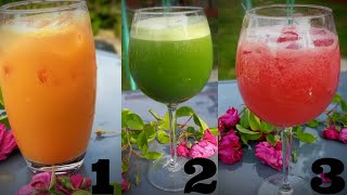 3 Refreshing Summer Drink | 3 Easy Fruit Juice Recipe | Fruit Juice | Summer Drinks Chef Ricardo !!
