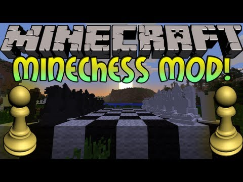 Minecraft: MineChess Mod! Play Legit Chess With Friends!