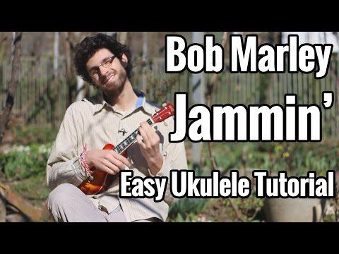 EASY - Bob Marley - Jammin Ukulele Tutorial (Chords on Screen)