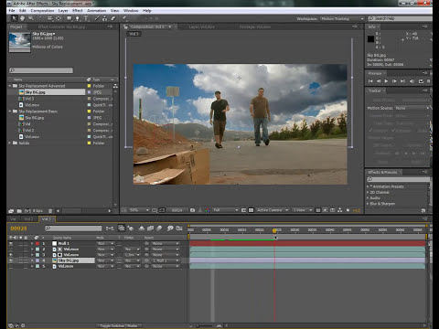 TUTORIAL CAMBIO DE FONDO EN AFTER EFFECTS..