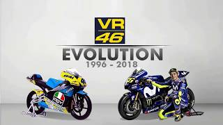THE EVOLUTION OF VALENTINO ROSSI MotoGP BIKE 1996 - 2018