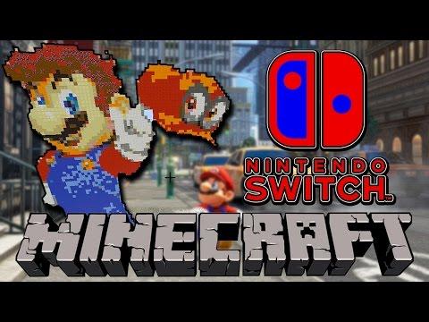Minecraft Nintendo Switch {Super Mario Odyssey Pixel Art}
