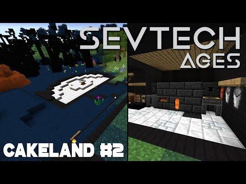 CakeLand #2: Дизайн - 3 базы в одной и Железный век | SevTech: Ages