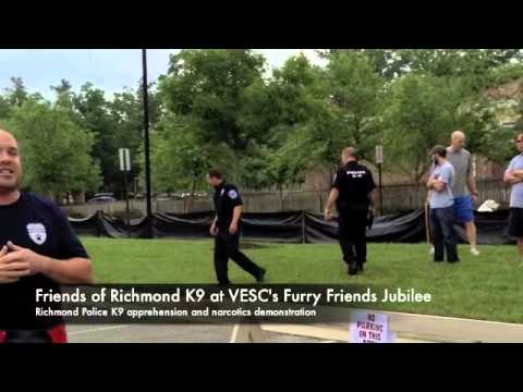 Friends of Richmond K9 demonstration at FFJ 2013