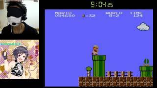 Super Mario Bros. Blindfolded in 14:46 目隠しマリオRTA