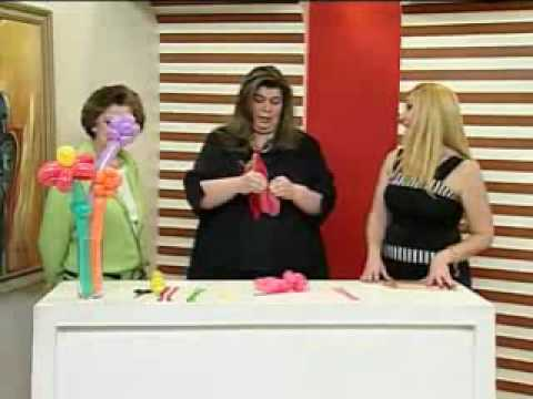 Artesanato - Flores em Balões - Melhor com Você - 03/08