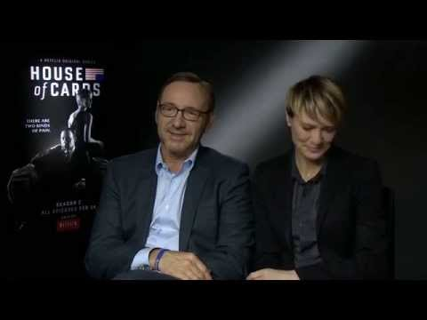 Kevin Spacey, Robin Wright & Kate Mara talk House Of Cards Season 2
