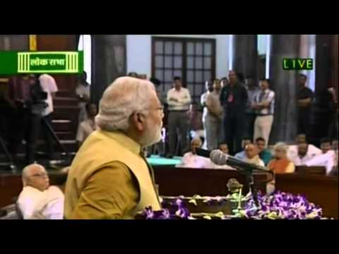 Shri Narendra Modi speech after his election as leader of BJP Parliamentary Party.