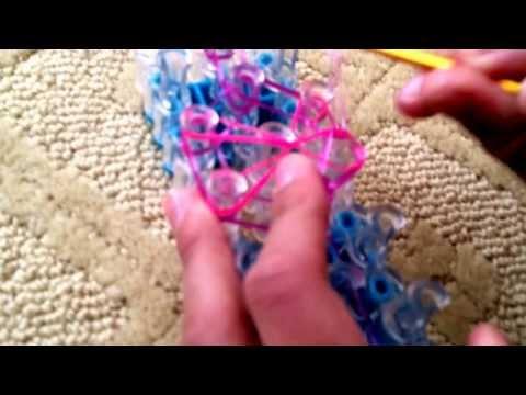 Rainbow loom butterfly blossom ring