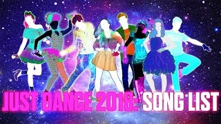 Just Dance 2018: Official Song List - Fanmade.