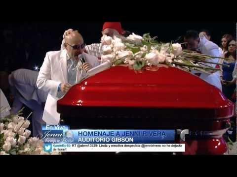 LUPILLO RIVERA canta a su hermana Jenni en emotivo Funeral 12/19/2012