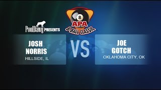 2018 APA 8-Ball Classic Finals - Joe Gotch VS Josh Norris -  Orange Tier