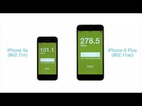 iPhone Wi Fi Speed Test: 802.11ac iPhone 6 Plus vs. 802.11n iPhone 5s