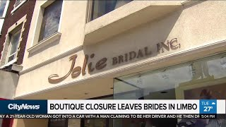Abrupt closure of boutique leaves brides in limbo