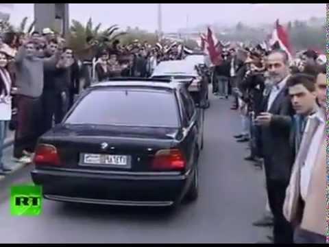Как встречали кортеж Лаврова в Дамаске
