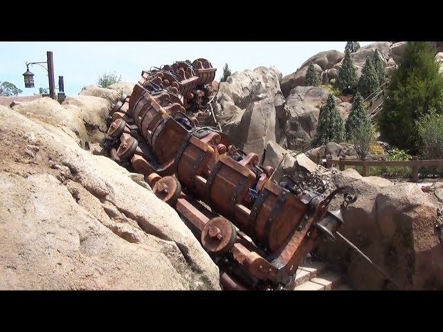 Seven Dwarfs Mine Train On Track - Multiple Views, Almost Ready to Open! W/ Ride Sounds, Disney