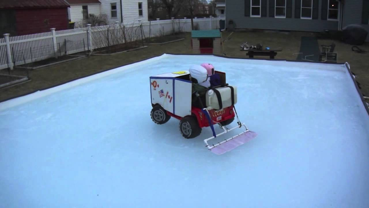 Backyard Rink Zamboni : Kids Zamboni  YouTube