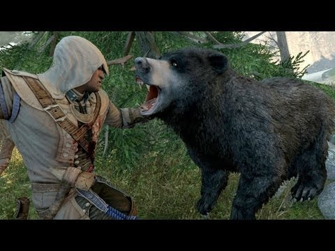 Assassin s Creed 3 Achilles Costume & Hunting Bears , Cougar , Bobcat and Elk